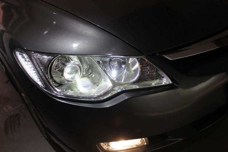 本田思域车灯改装阿帕LED双光透镜