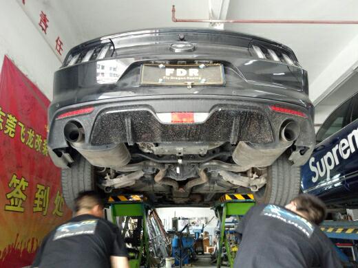 野马 改装中尾段双阀门排气系统完成?