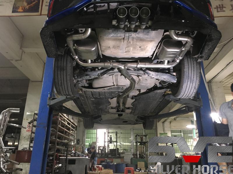 十代气思域改装中尾段可变阀门中三出排