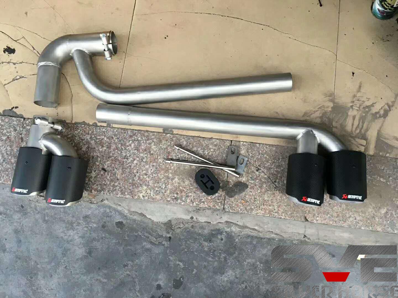 宝马X4改装SVE四出套件搭配碳纤维尾嘴