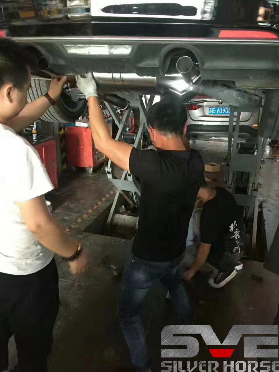 凯迪拉克ATSL升级SVE中尾段阀门排气