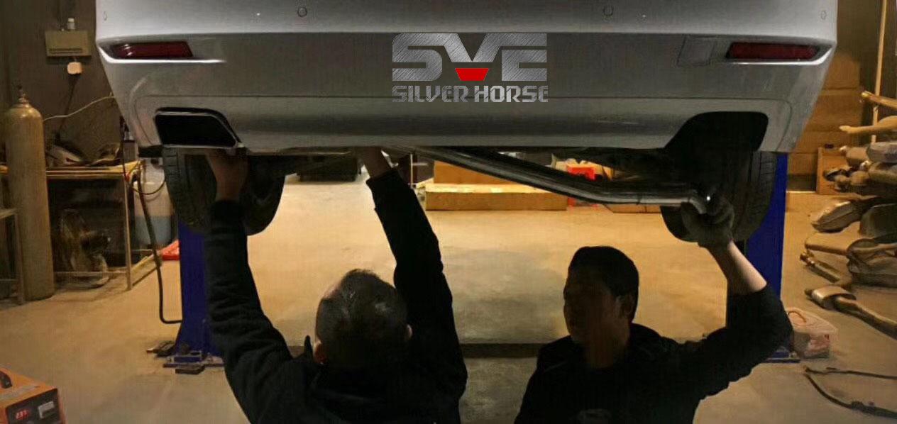 宝马520li改装SVE双出方口套件