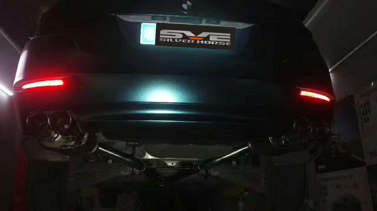 宝马525li升级SVE中尾段可变阀门四出排气