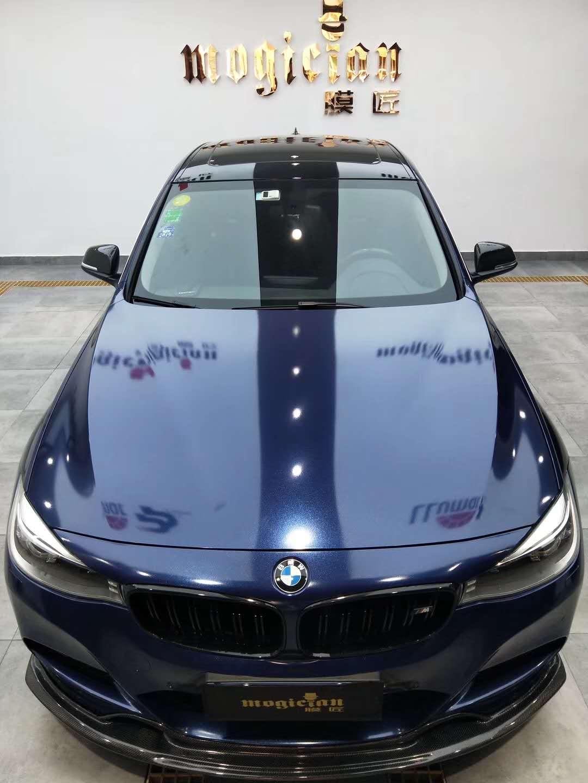 阳光就在风雨后-宝马3系GT改色极度深蓝