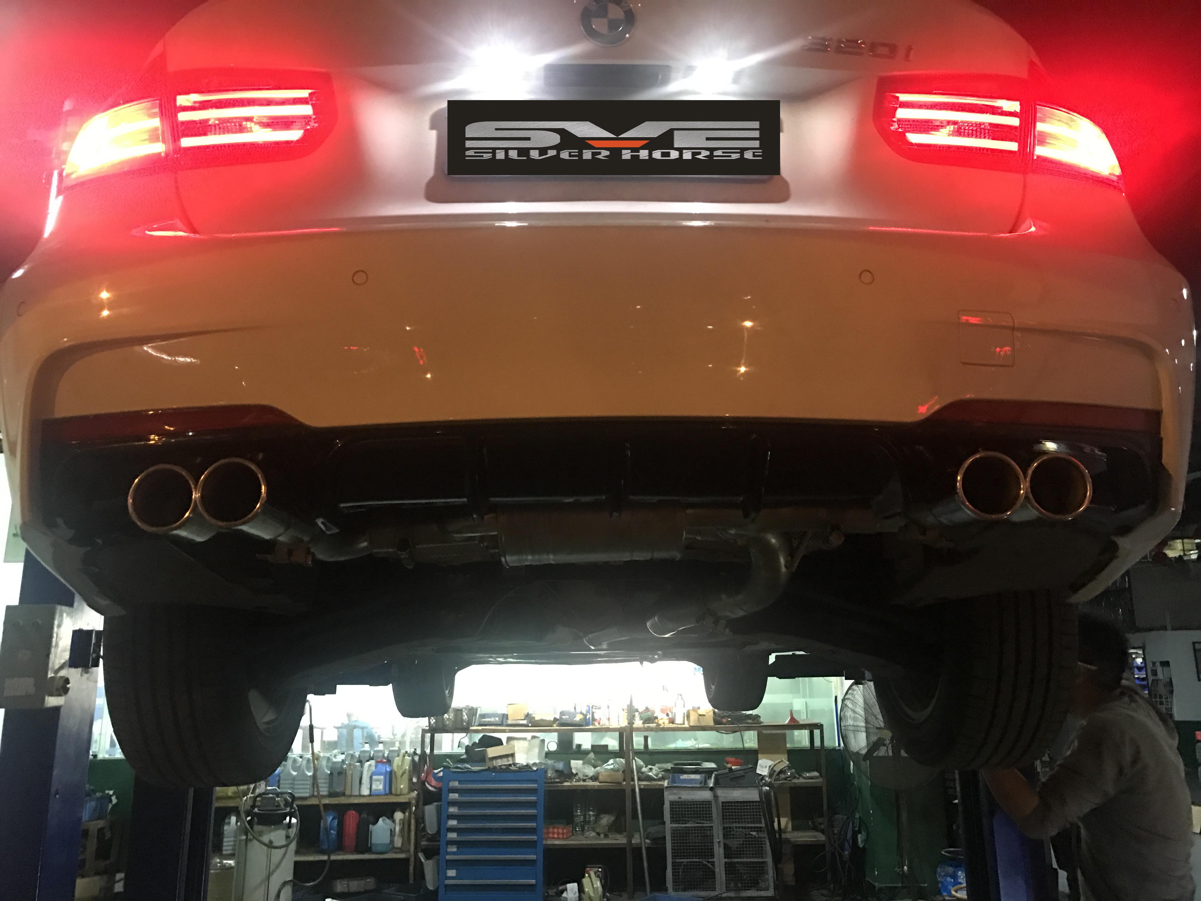 宝马3系320i改装SVE中尾段可变阀门排气