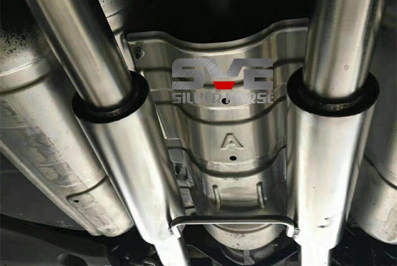 宝马3系改装SVE中尾段阀门四出排气