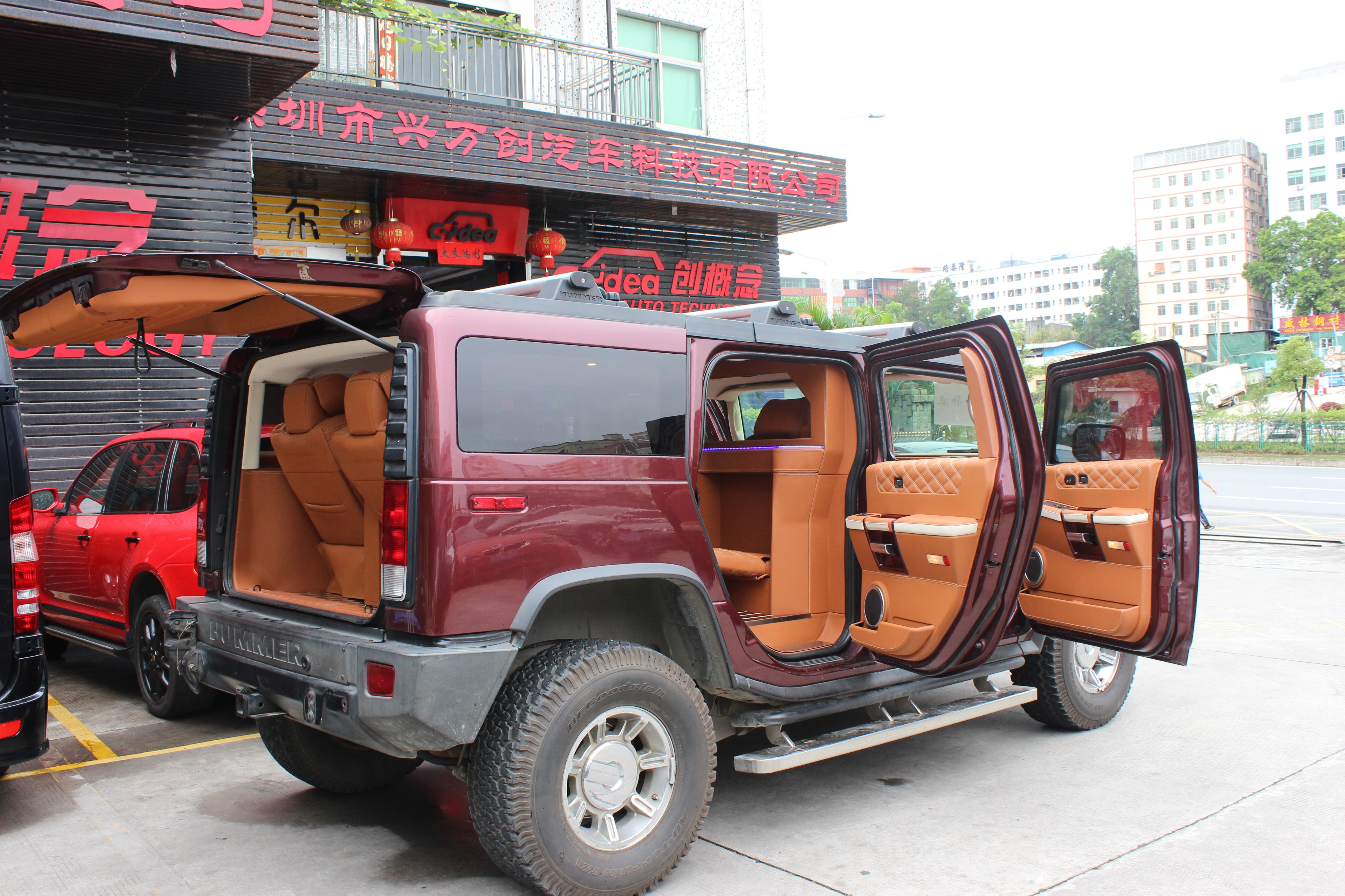 悍马H2改装豪华商务内饰,装航空座椅