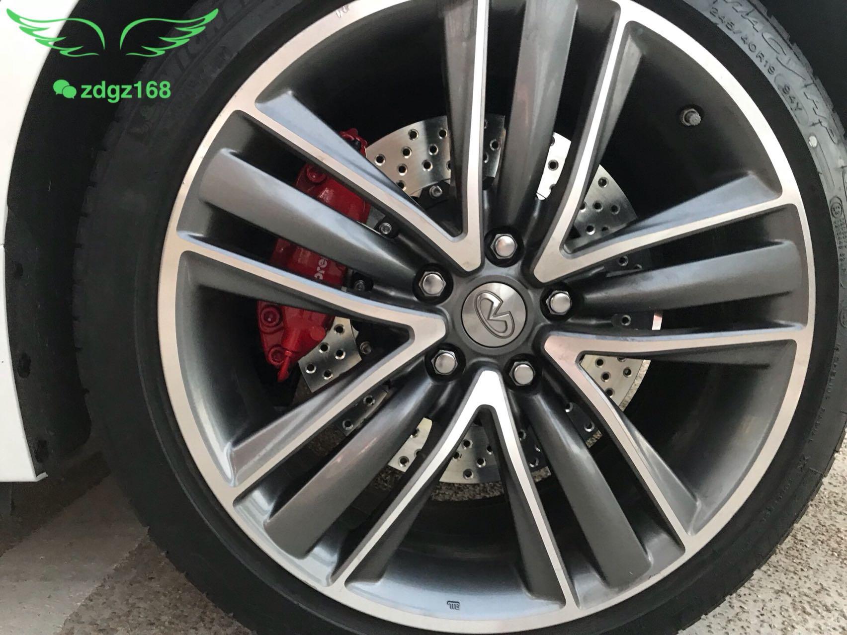 英菲尼迪Q50刹车改装升级意大利??brembo 前六后四套装,完美安装!