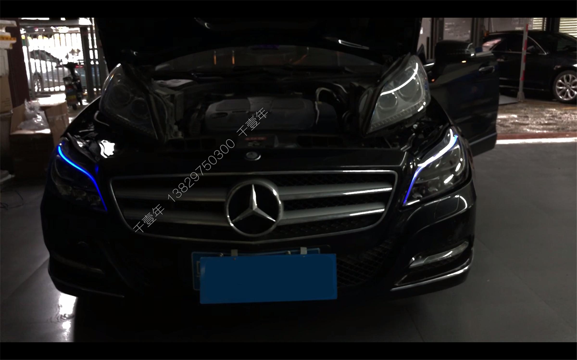 奔驰CLS300老款改装新款CLS400多光束LED大灯