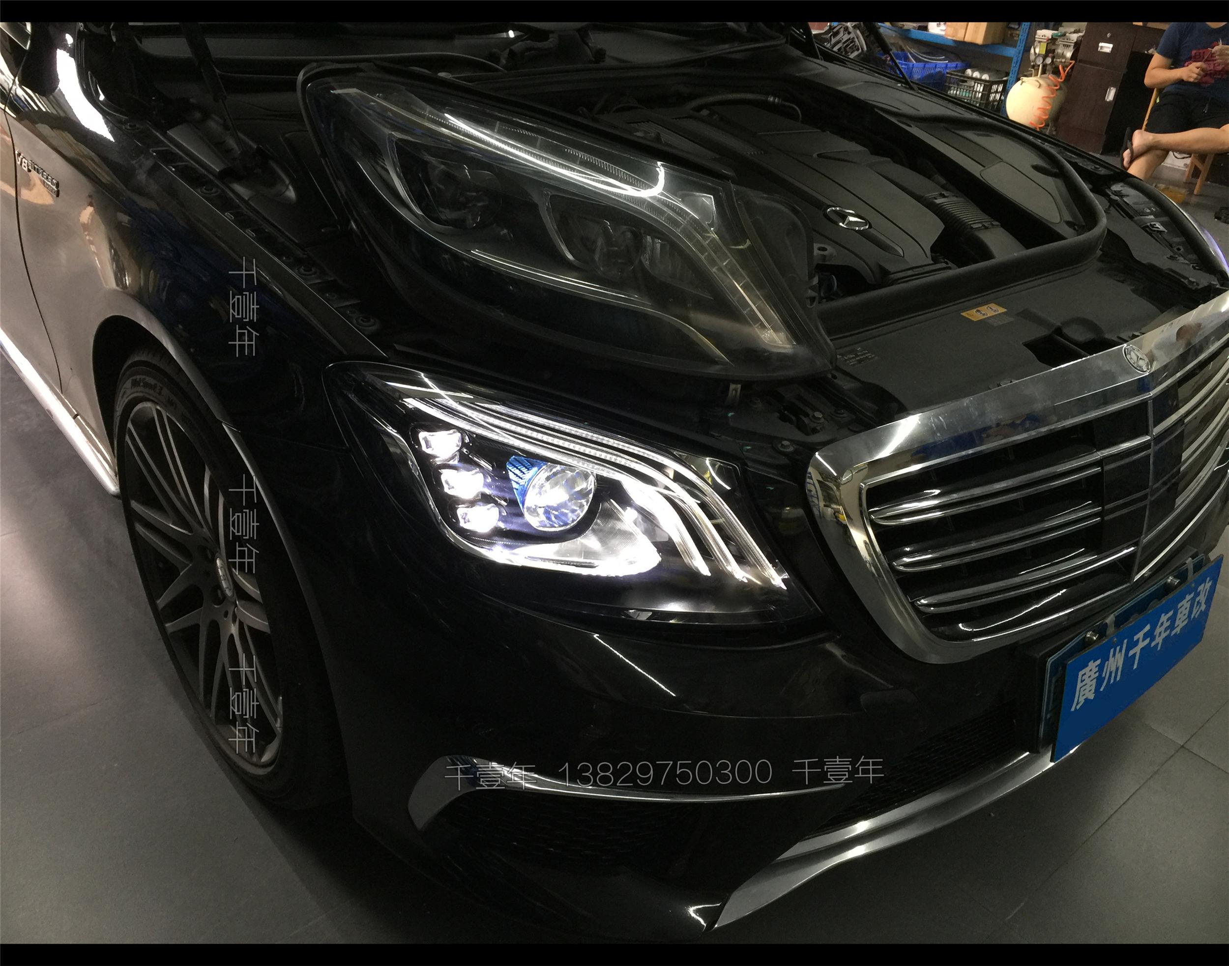 奔驰S400.500老改新多光束LED大灯原厂总成