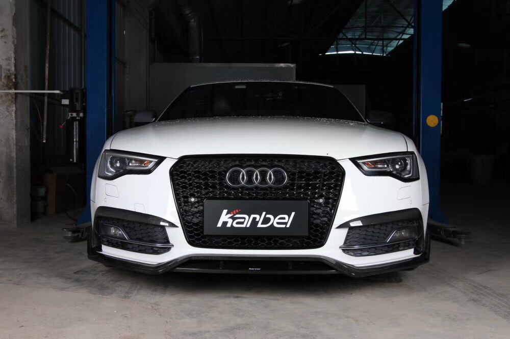 Karbel全新推出奥迪S5改装卡布尔干式碳纤维前铲/包角/后唇您的奥迪碳纤维升级专家—Karbel