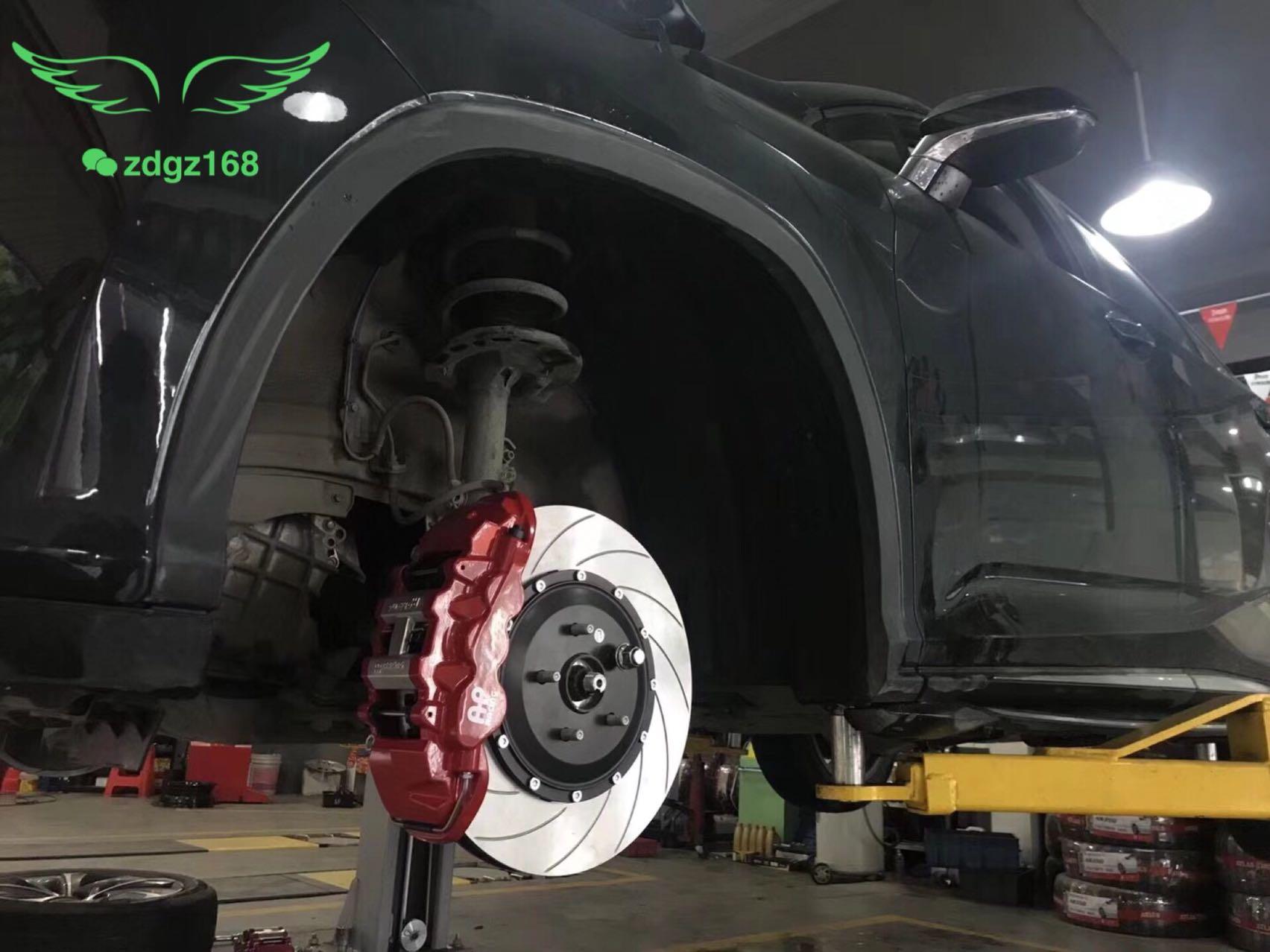雷克萨斯Rx200刹车改装升级前轮英国??Ap8520大六活塞刹车卡钳套件、卡钳大效果灵敏!