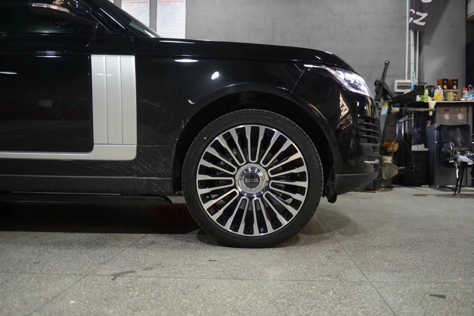 路虎揽胜改装网红锻造轮毂-上车效果图、21、22现货供应