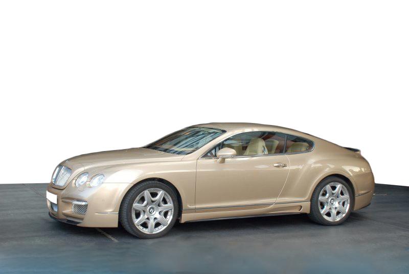 宾利欧陆GT改装ASI外观套件前后杠轮毂