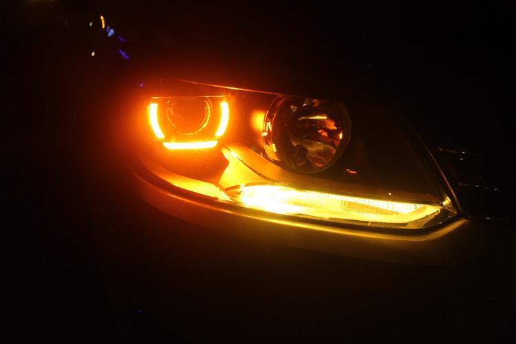 途安L车灯改装Q5双光透镜LED日行灯