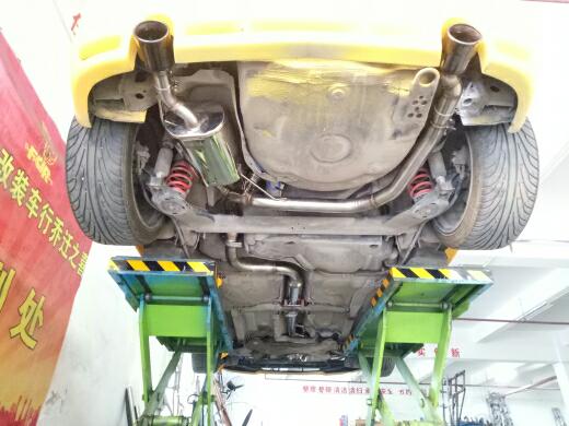 高尔夫4改装飞龙全段阀门排气
