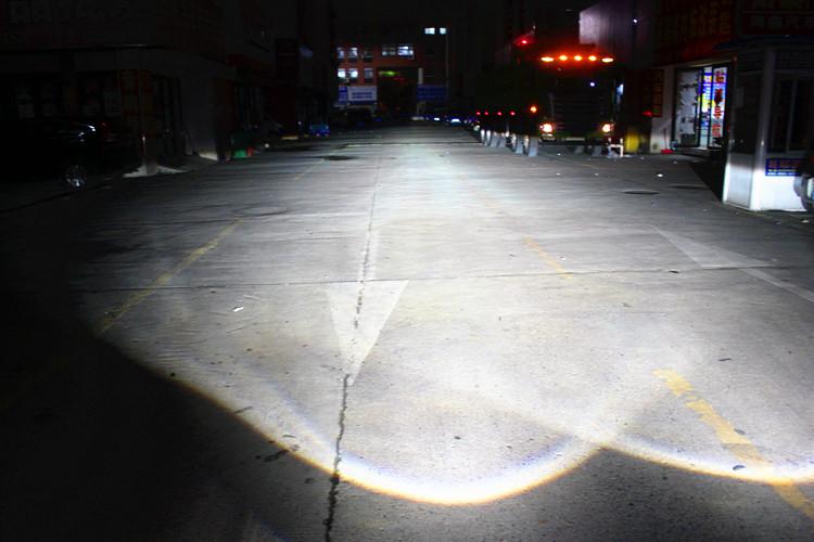 大众宝来车灯改装海拉5双光透镜