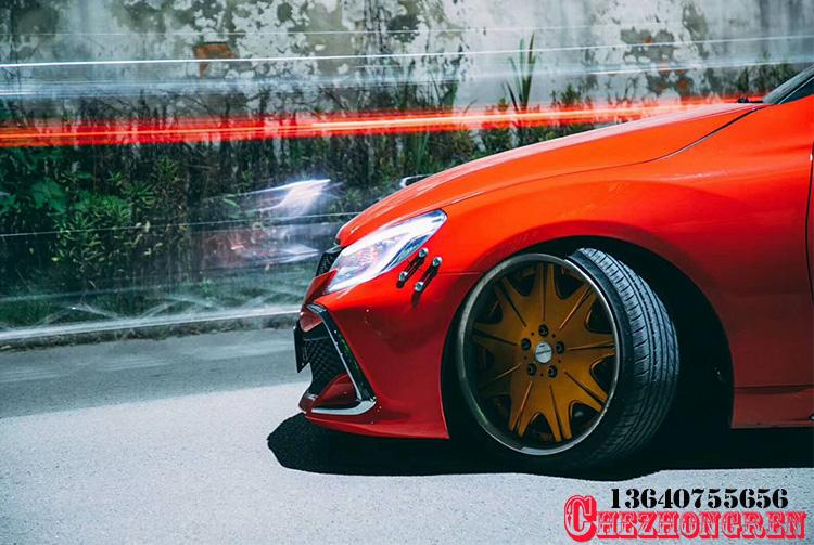 丰田锐志改装日本最新款18款前杠 Mark X中网大嘴前杠套件大包围