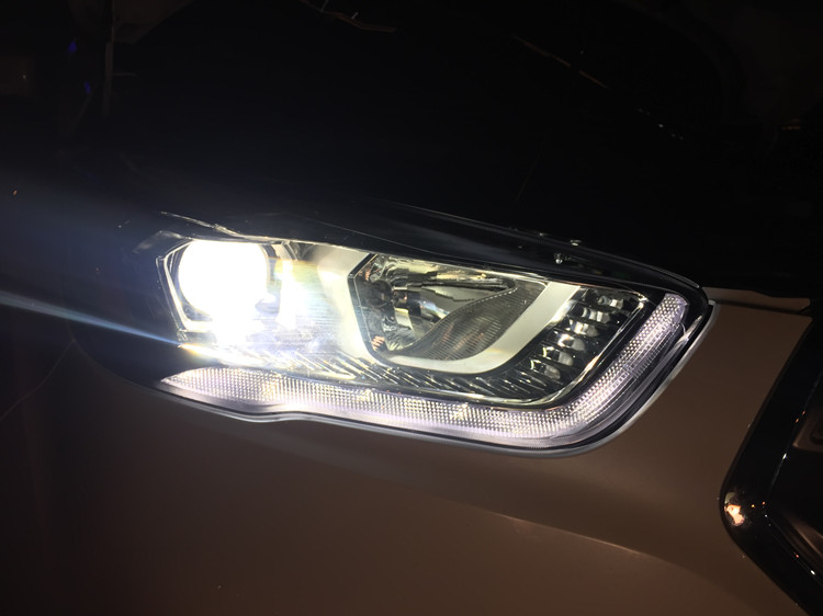 福特翼虎车灯改装海拉5双光透镜氙气灯