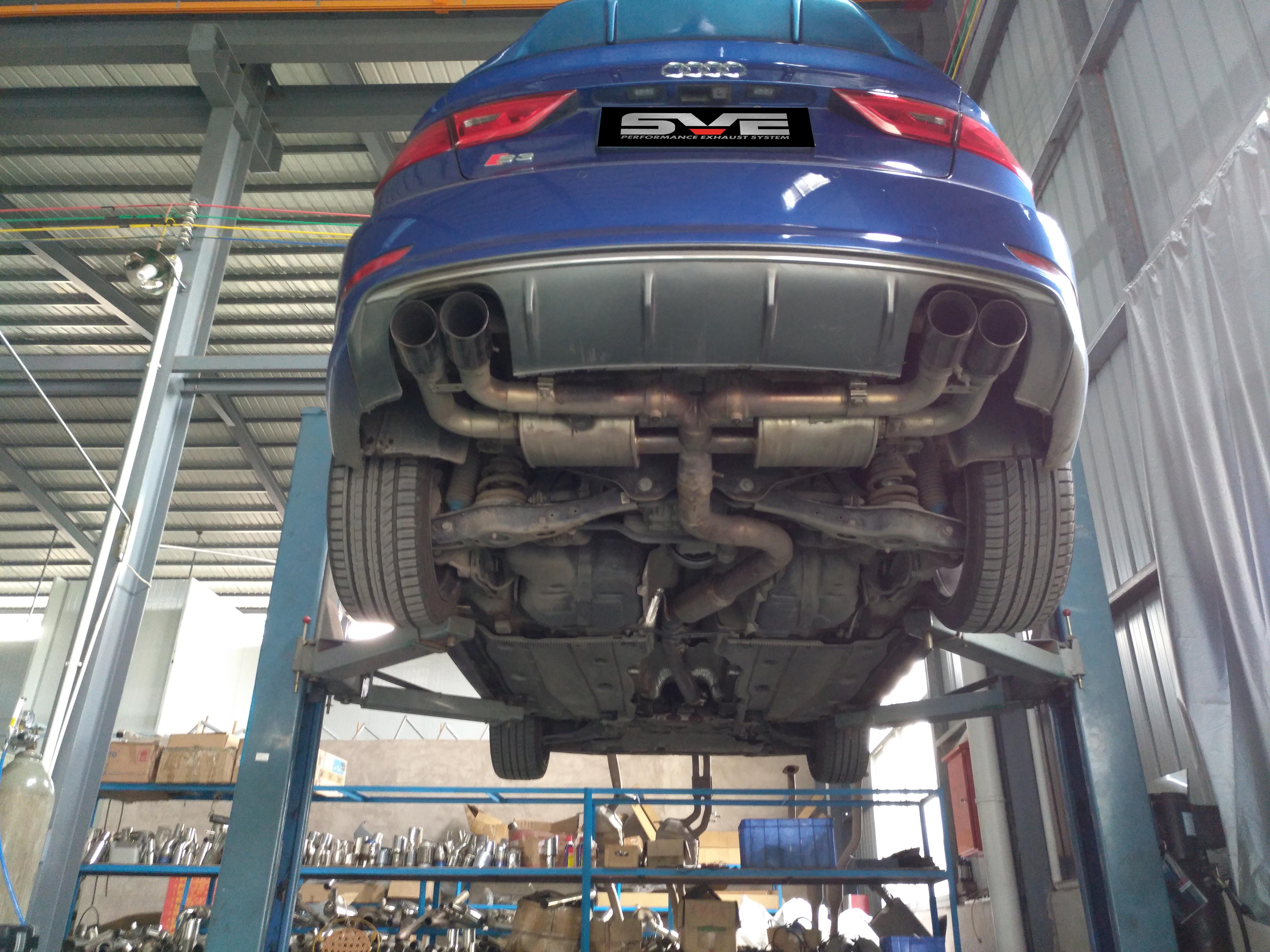 奥迪S3升级中尾段可变阀门排气