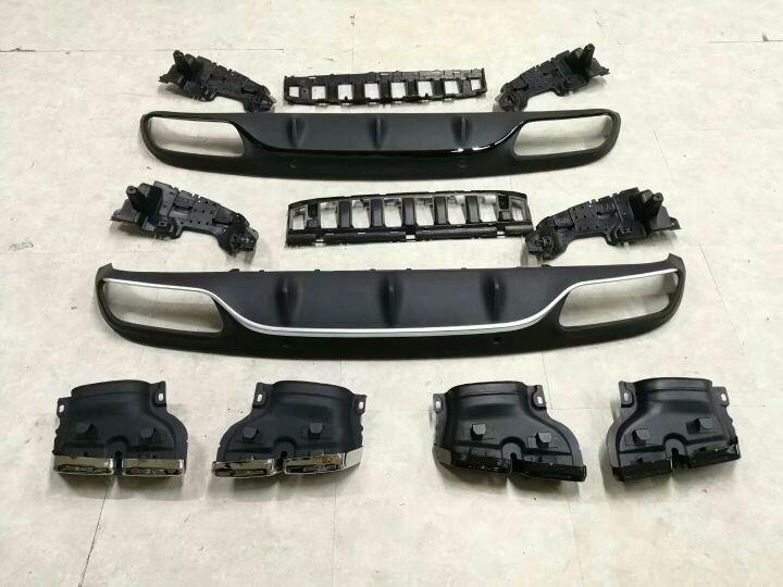 热卖??奔驰C级 W205 两门改装AMG后唇尾喉套件,两款后唇现货供应!价格优惠