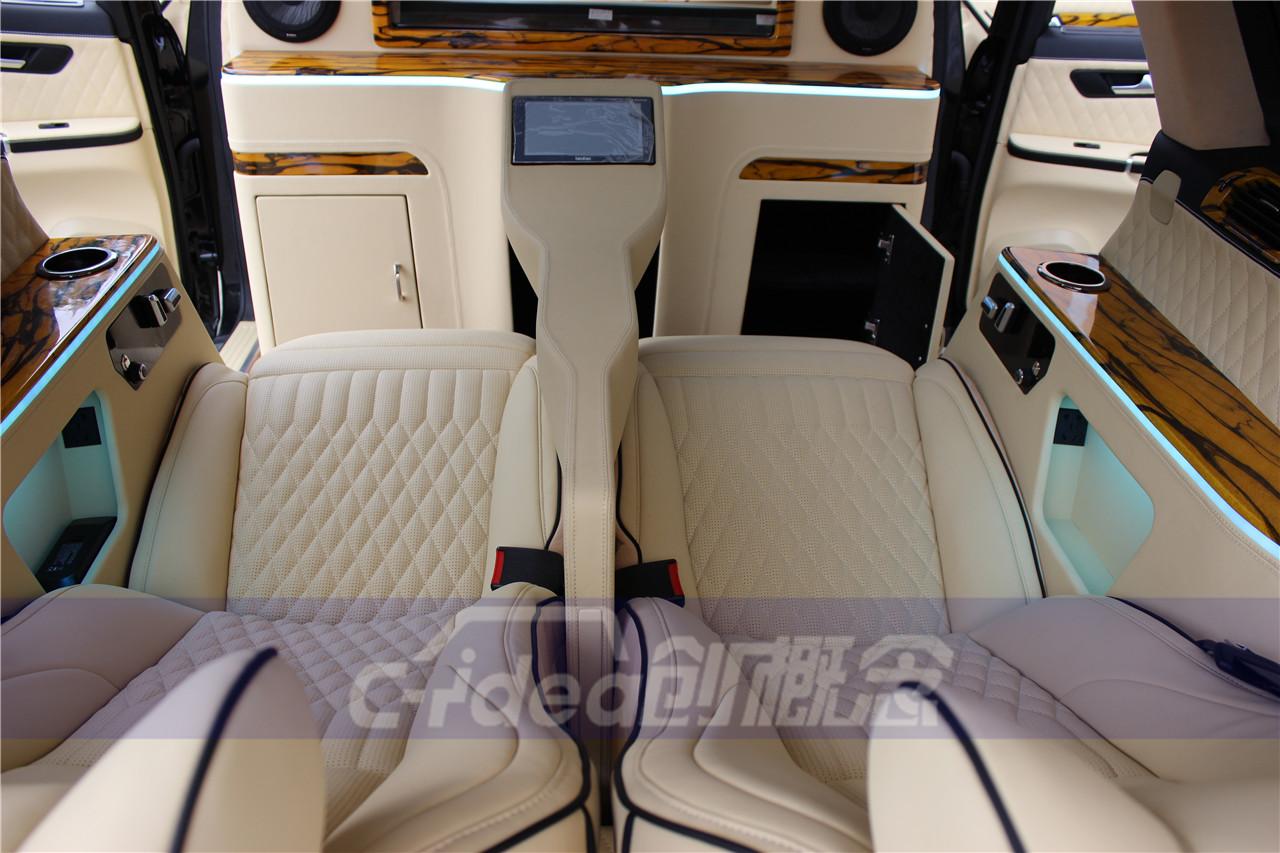 奔驰R320全车内饰改装,定制航空座椅