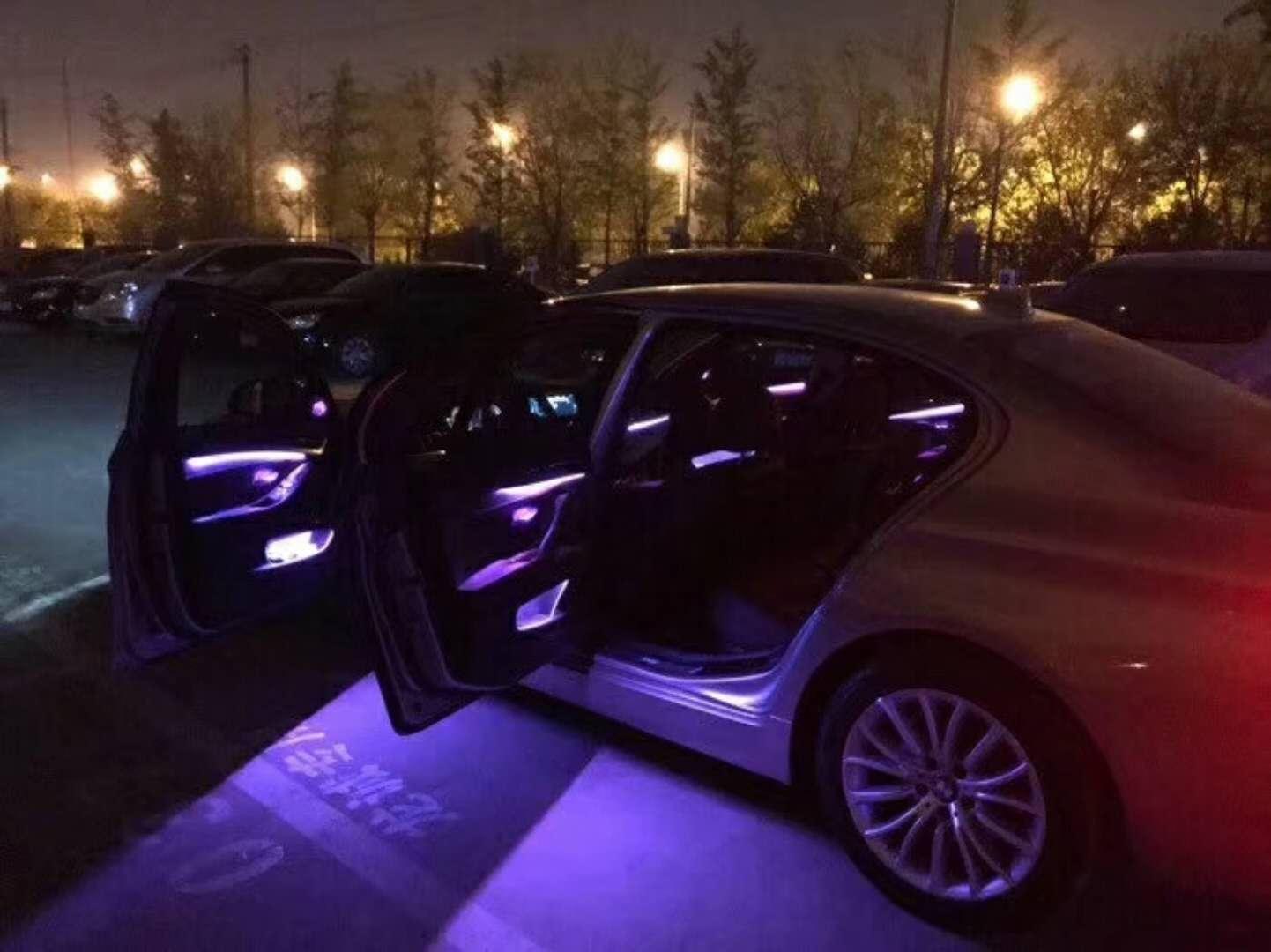 18款宝马5系G38改装8色氛围灯