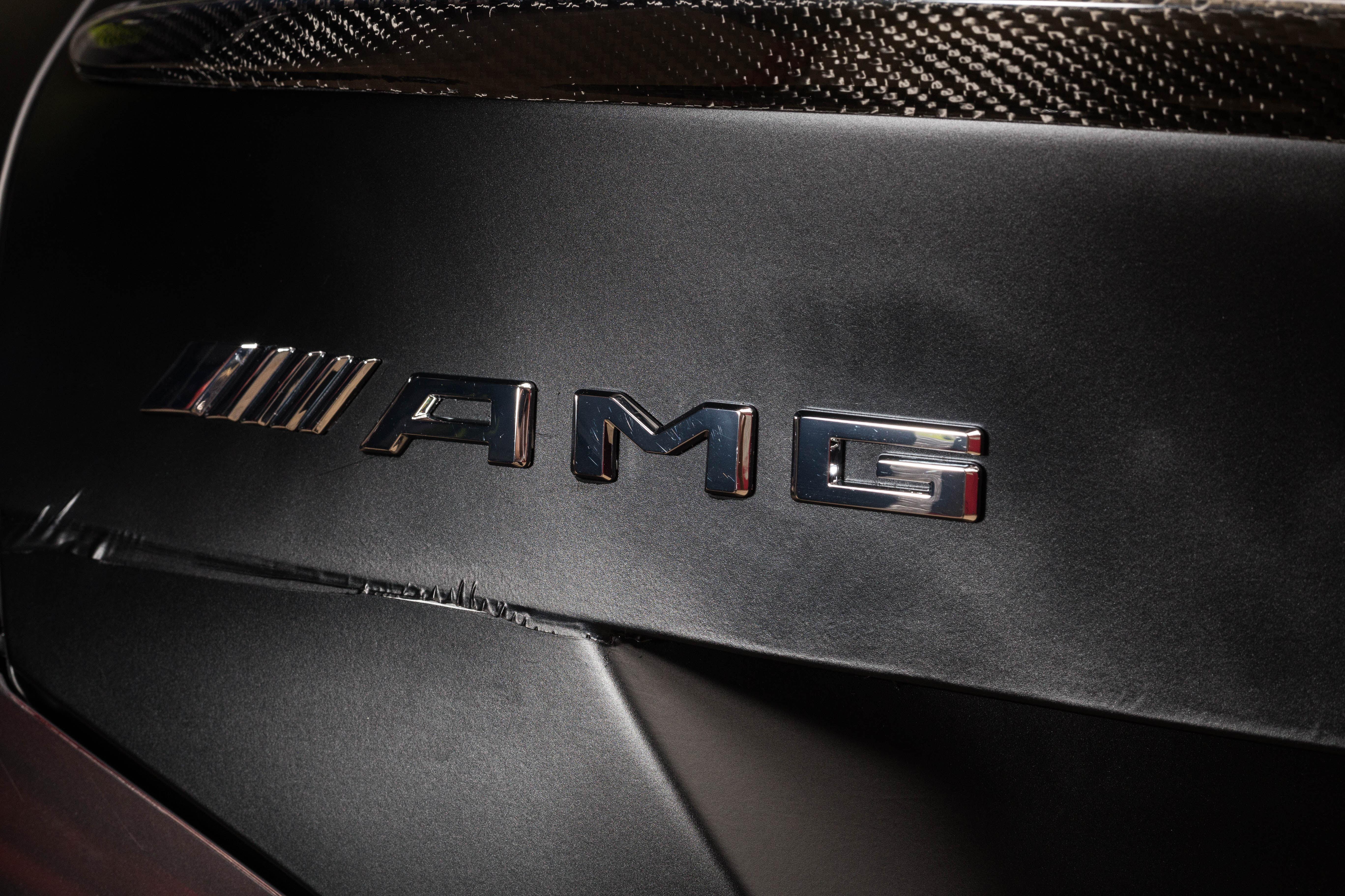 CLA45 AMG 车身贴膜、拉花、轮胎贴字