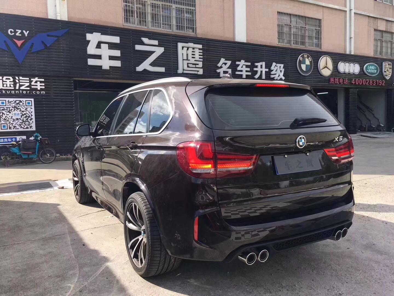 深圳改装宝马X5M包围运动中的猛兽