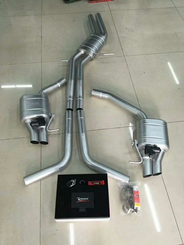 奥迪A7 3.0T  改装  Repose改RS7款中尾段阀门排气 无损安装,声浪依旧完美,放炮。