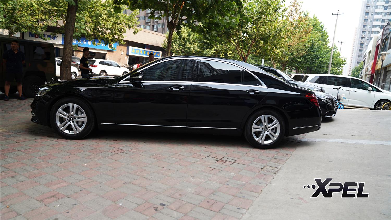 石家庄奔驰S350贴美国XPEL隐形车衣