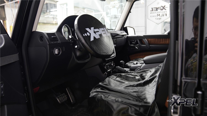 石家庄奔驰G500贴XPEL安全隔热防爆太阳膜