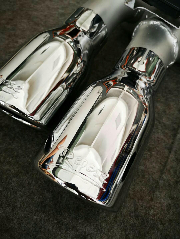 新款奥迪A5(B9)前驱   改装  Repose中尾段四出电子阀门排气 无损安装,声浪依旧完美,放炮纯正。