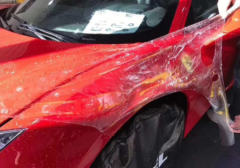 深圳改装法拉利488全车贴XPEL全车透明隐