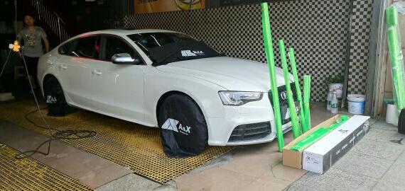 奥迪 A5 车身改色 AX珊瑚金绿施工完成 完美交车