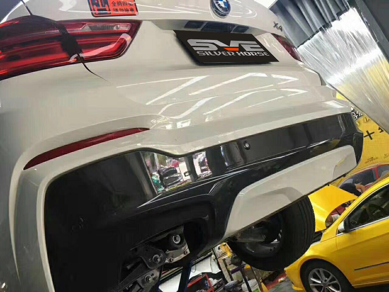 宝马X4 20i升级尾段可变阀门双鼓四出排气