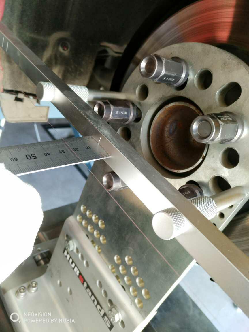 昂克赛拉绞牙改装加拉线四轮定位!
