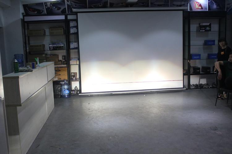 本田思域车灯改装升级海拉5双光透镜