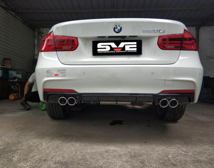 新款宝马3系改装SVE中尾段阀门四出排气