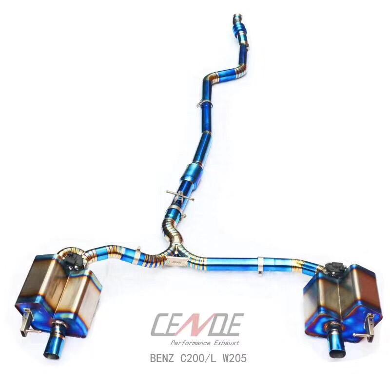 CENDE森德奔驰c200中尾段钛合金智能电子阀门排气