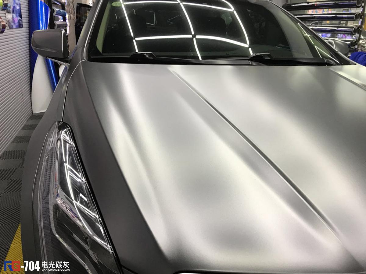 凯迪拉克车身改色膜电光碳灰