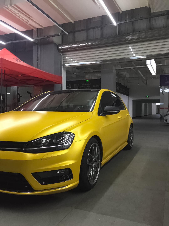 大众高尔夫车身改色电光黄案例