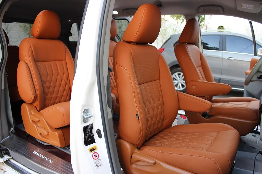 丰田塞纳暖色内部改装,不一样的个性