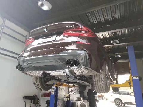 宝马630GT  改装repose四出中尾段阀门排气,视频效果找我拿
