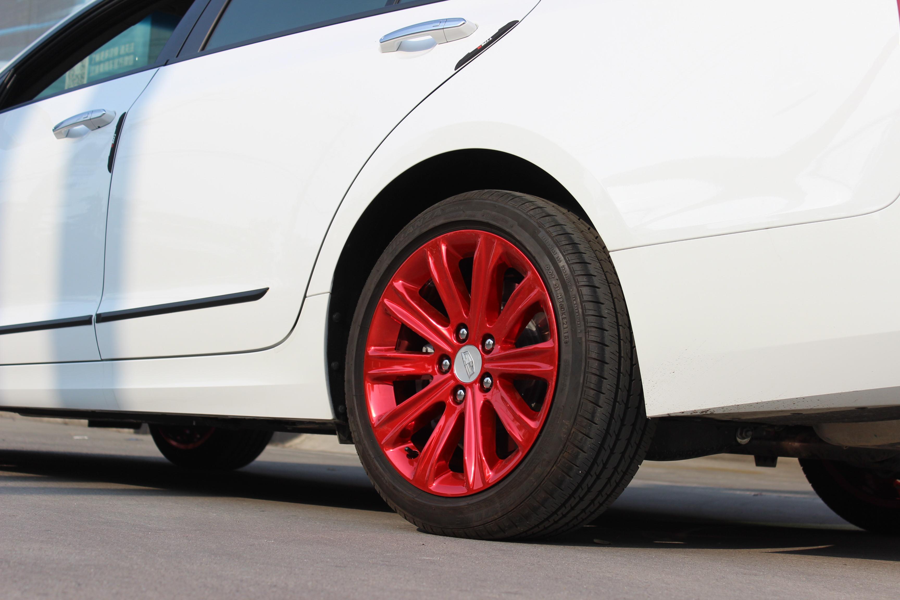 凯迪拉克ats轮毂改电镀大红色