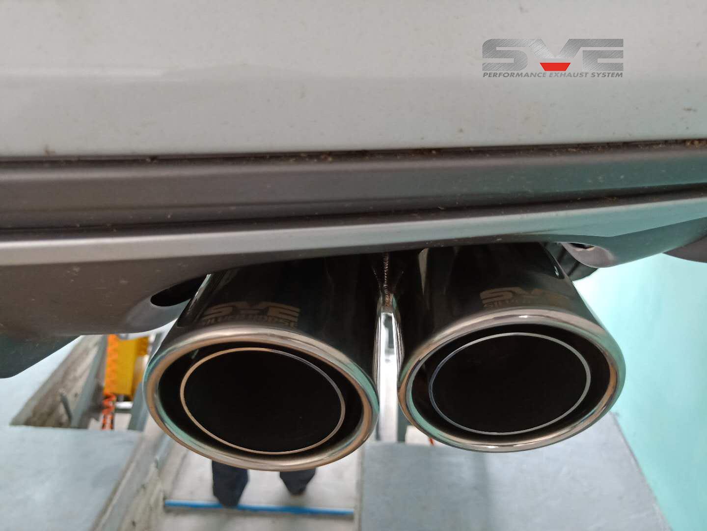 奥迪A3改装中尾段静音四出排气