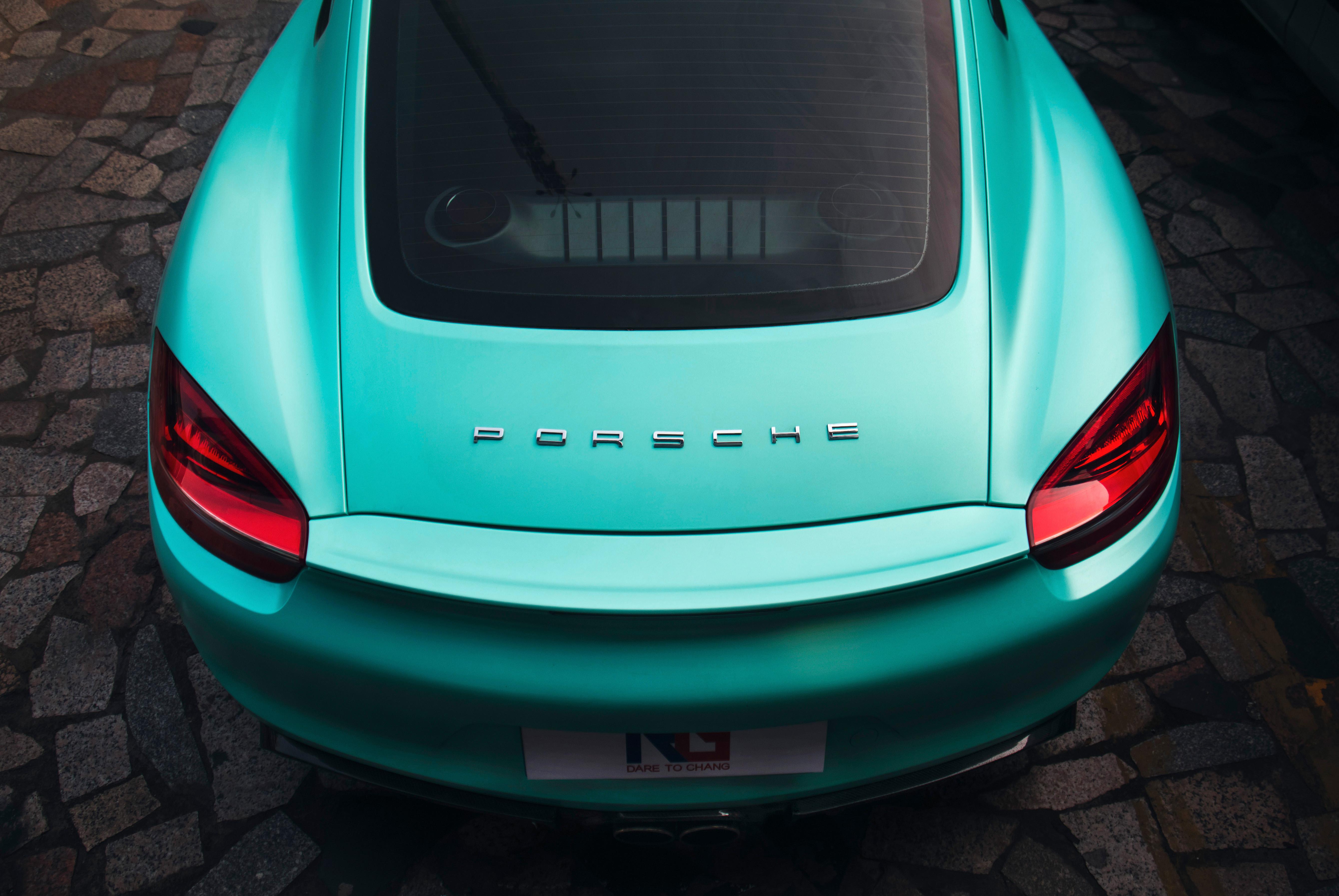 保时捷Cayman车身改色电光蒂芙尼案例