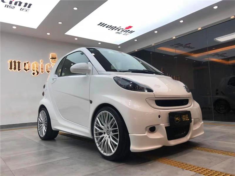 白色小精灵-smart全车外观修复华丽整容