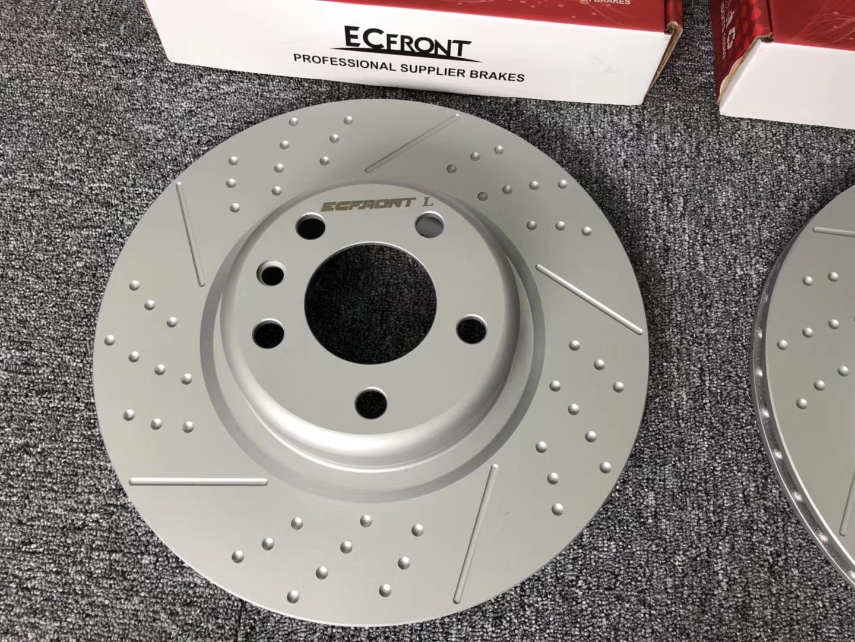 宝马X5改装ECFRONT打孔划线耐高温刹车碟