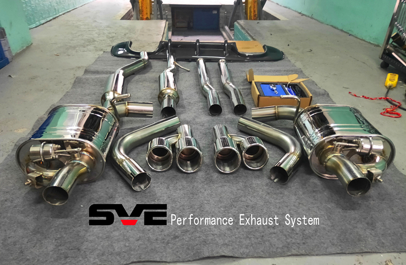 15捷豹XE3.0T升级SVE中尾段阀门四出排气